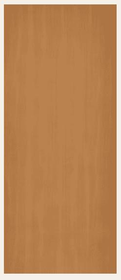 Western hemlock prefinished hardboard door